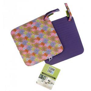 Pot Holder (Hot Pad) in Purple Daisy Design [Pair]