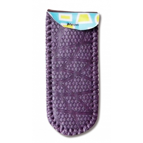 Pot Handle Holder in Purple Line Design [Pair]