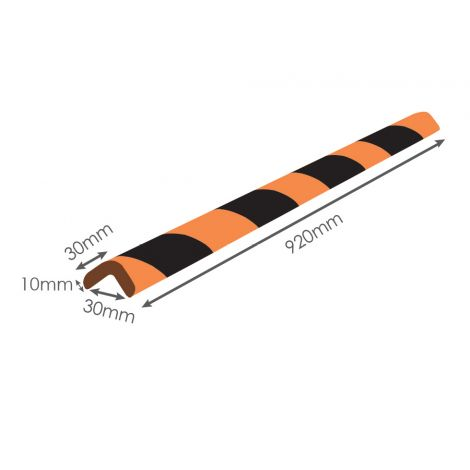 "Medium-Duty Commercial Corner Guard 36"" x 1.2"" x 1.2"" [920mm x 30mm x 30mm]"