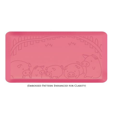 Anti-Fatigue Kitchen Floor Mat, Piggy Design