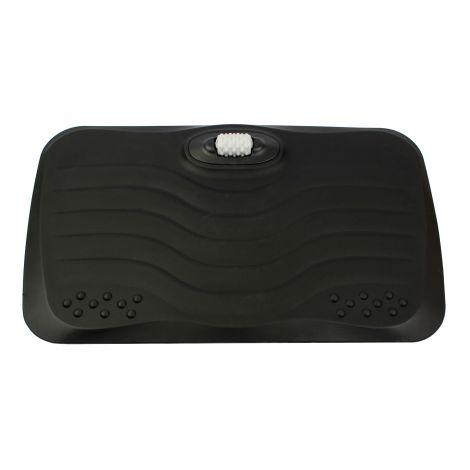 "Massage Anti-Fatigue Mat with Textured Roller, Wave Pattern, Black, 30"" x 18"" x 1.5"", Modular Massage System"